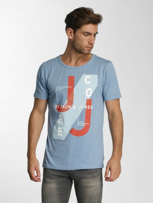 Jack & Jones T-Shirt jcoHatti blau