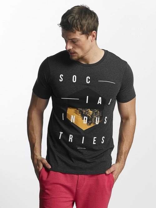Jack & Jones T-Shirt jcoOctupus grau