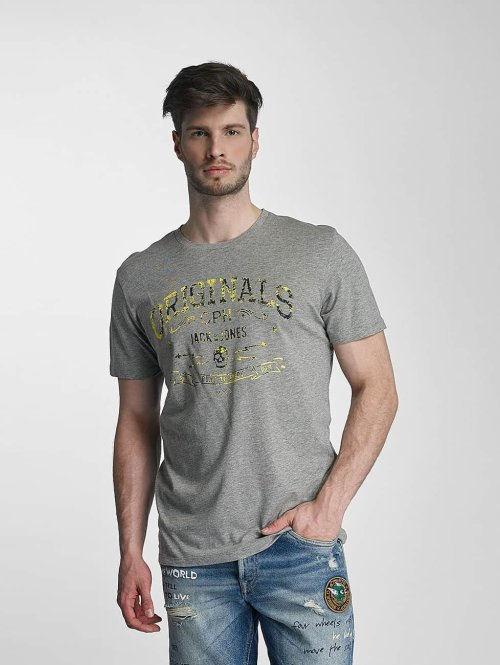Jack & Jones t-shirt jorTraffic grijs