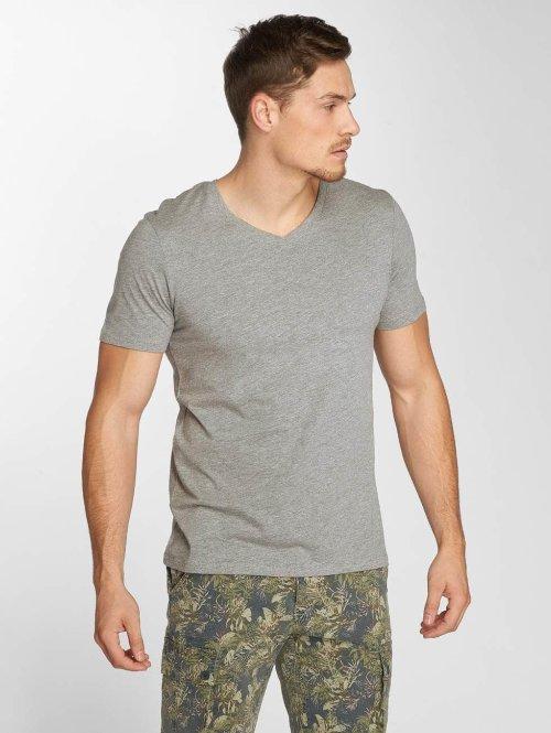 Jack & Jones t-shirt jjePlain grijs