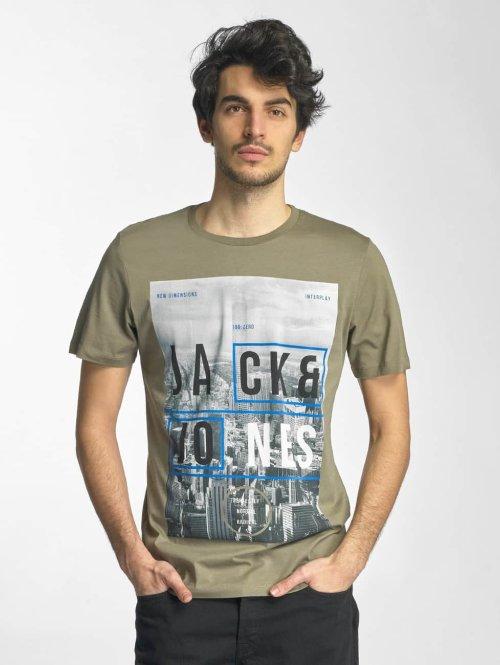 Jack & Jones T-Shirt jcoMoin grün