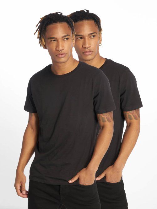 Jack & Jones T-Shirt jjePlain 2-Pack noir