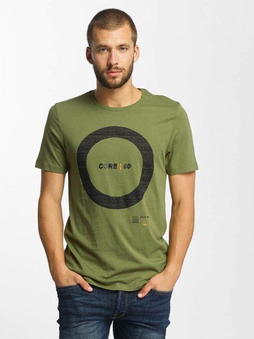 Jack & Jones t-shirt jcoCharge olijfgroen