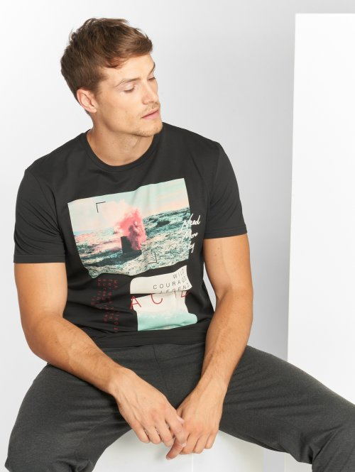 Jack & Jones t-shirt jorChillen zwart
