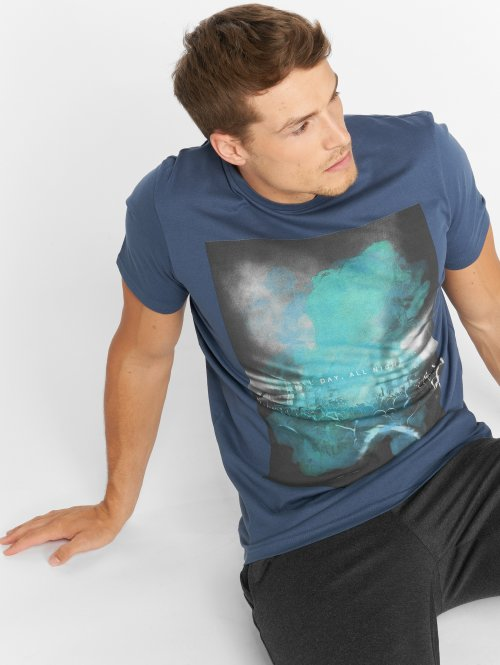 Jack & Jones T-Shirty jorChillen niebieski