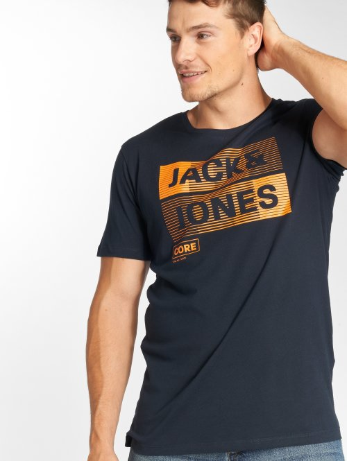 Jack & Jones T-Shirty jcoMase niebieski