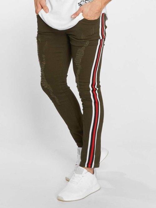 John H Slim Fit Jeans Logan grün
