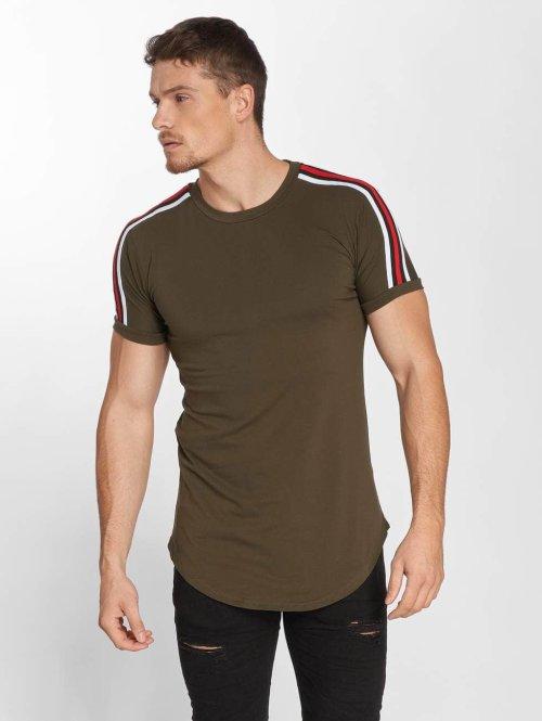 John H t-shirt Stripe groen