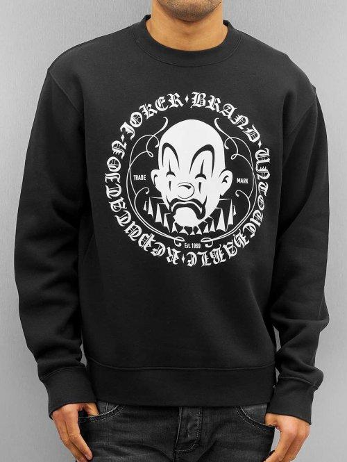Joker trui Circle Clown zwart