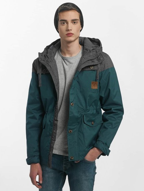 Just Rhyse Manteau hiver Warin turquoise