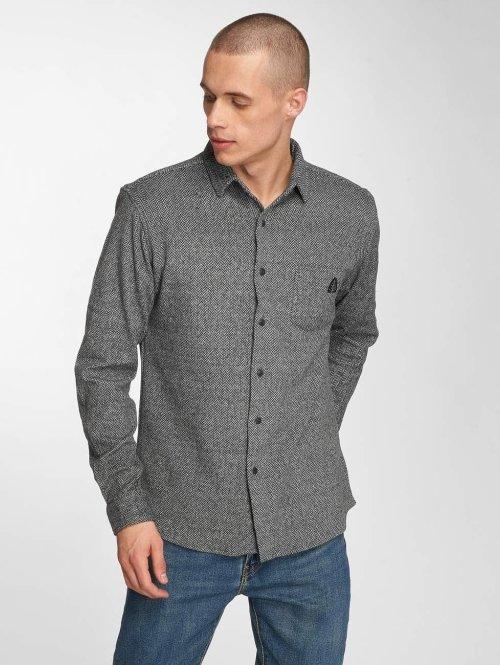 Just Rhyse overhemd mono grijs