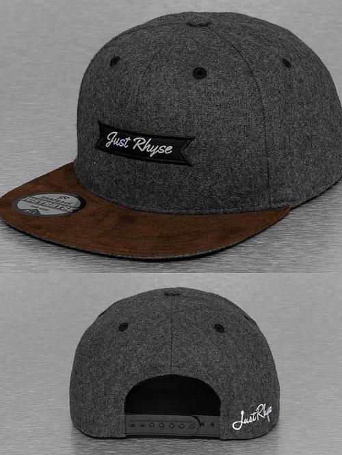Just Rhyse snapback cap Wool grijs