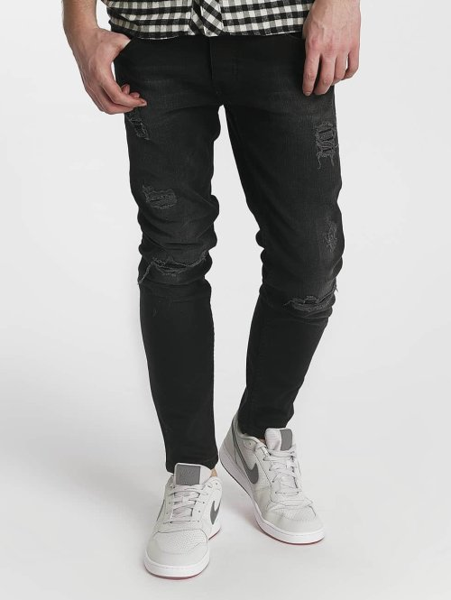 Just Rhyse Straight fit jeans Destroyed grijs