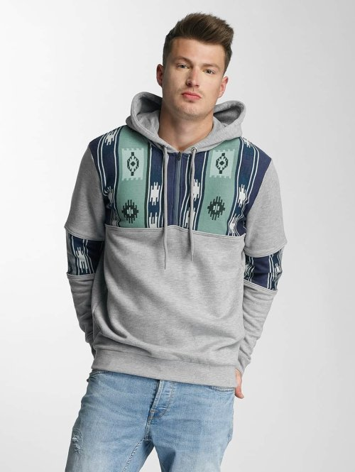 Just Rhyse Sweat capuche Three Tone gris