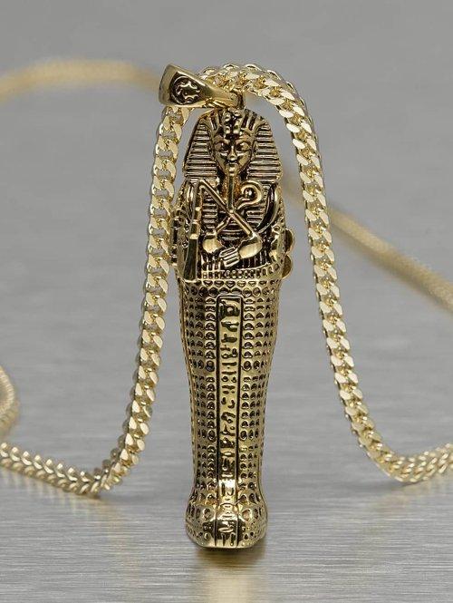 KING ICE Kette Tut Coffin goldfarben