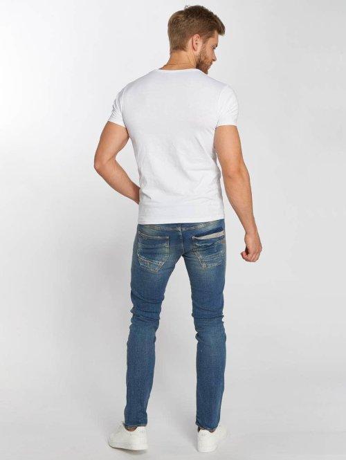 Le Temps Des Cerises Straight Fit Jeans 700/11 Loops blau