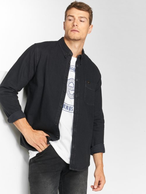 Lee Camisa Button Down negro