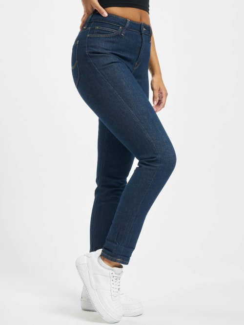 Lee Slim Fit Jeans Mom blau