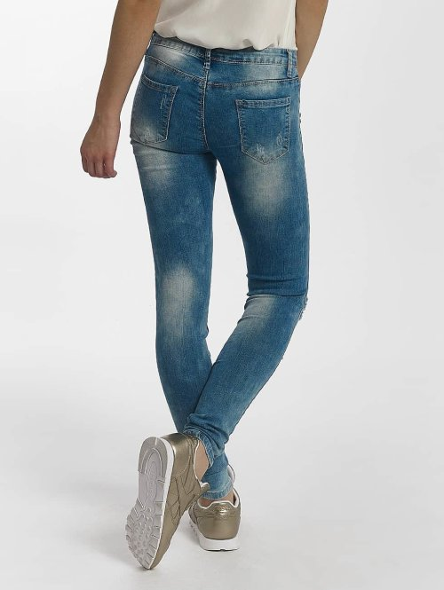 Leg Kings Skinny Jeans Flower blau