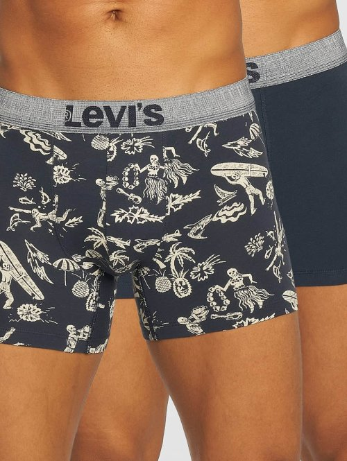 Levi's® boxershorts Hawaiian Skull Print 2-Pack blauw