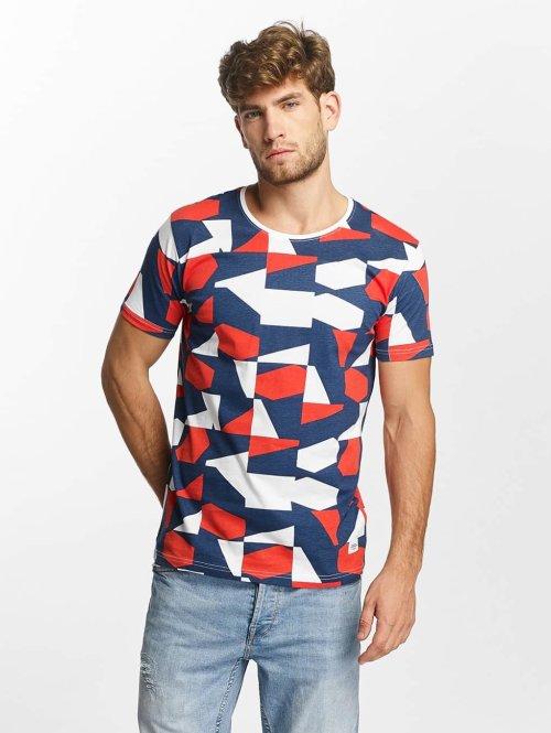 Lindbergh t-shirt Allover Printed blauw