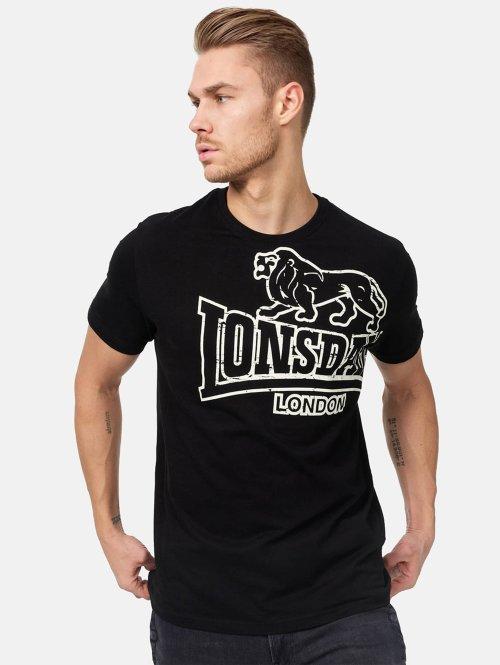 Lonsdale London Camiseta Langsett negro