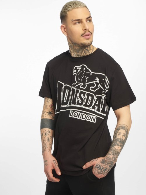 Lonsdale London T-Shirty Langsett czarny