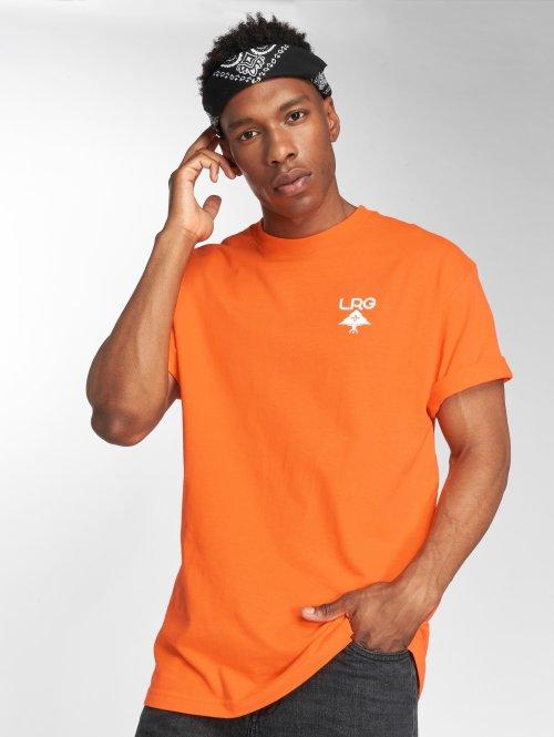 LRG T-Shirty Logo Plus pomaranczowy