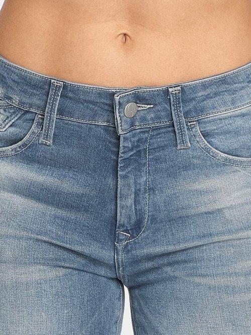 Mavi Jeans Skinny Jeans Tess Fringe blau