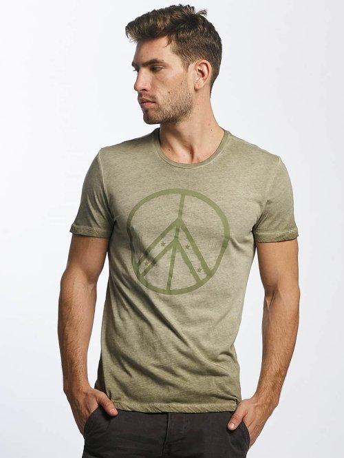 Mavi Jeans t-shirt Peace olijfgroen