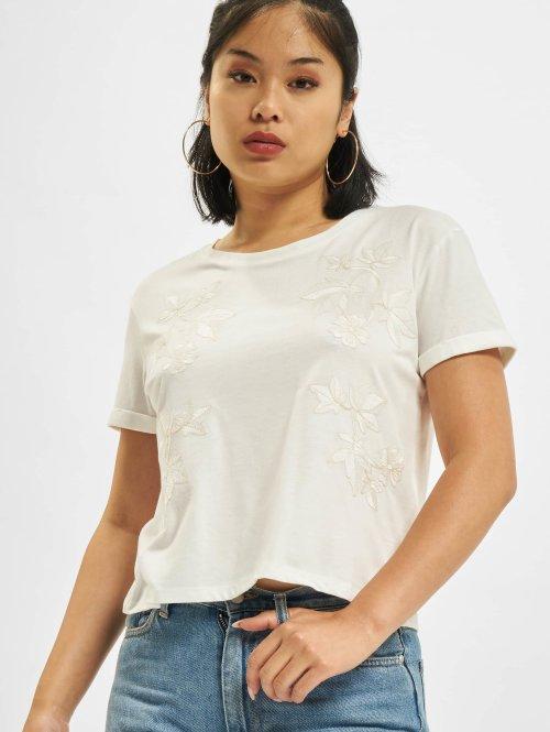 Mavi Jeans T-Shirt Embroidery weiß
