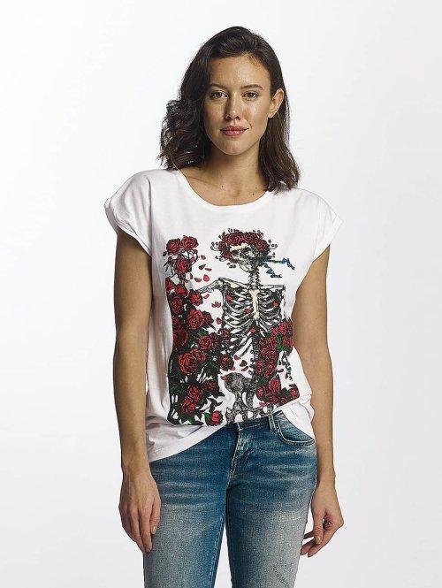 Merchcode T-paidat Grateful Dead Rose valkoinen