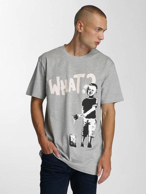 Merchcode T-Shirt Banksy What Boy grau