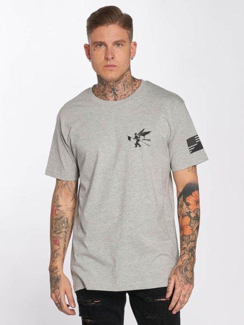 Merchcode t-shirt Linkin Park Flag grijs