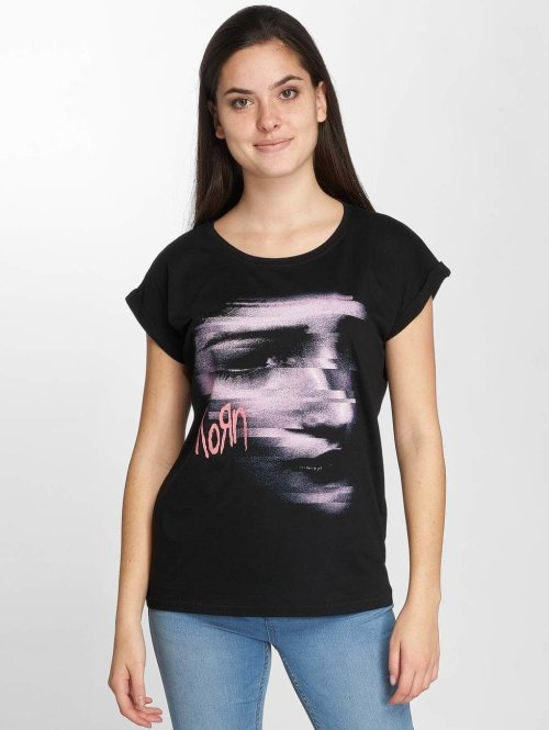 Merchcode T-Shirt Korn Face noir