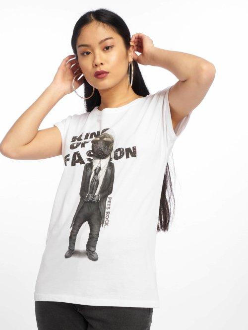 Merchcode t-shirt Petsrock King Of Fashion wit