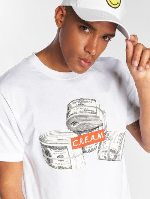 Mister Tee Camiseta C.R.E.A.M. Bundle blanco