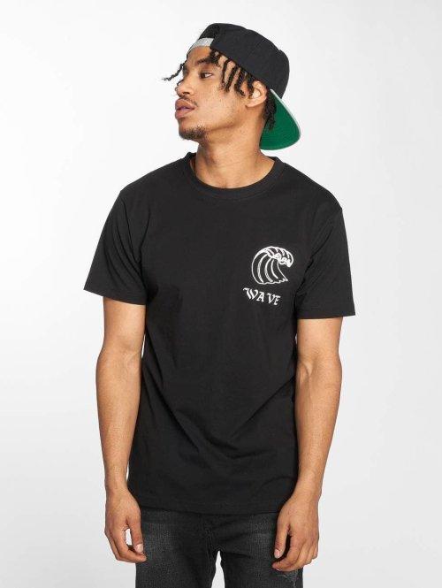 Mister Tee T-paidat Wave musta
