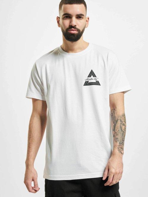 Mister Tee T-Shirt Triangle blanc
