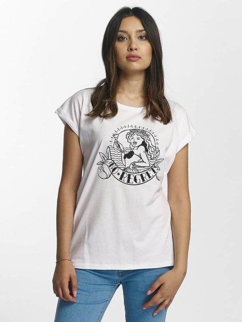 Mister Tee T-Shirt No Regrets blanc