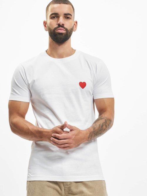 Mister Tee T-shirt Heart vit