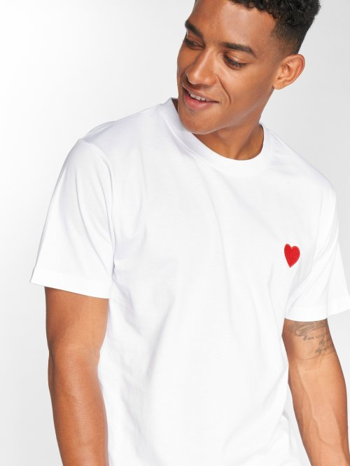 Mister Tee T-shirts Heart hvid