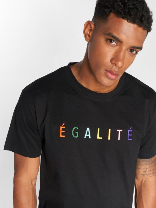 Mister Tee T-shirts Egalite sort