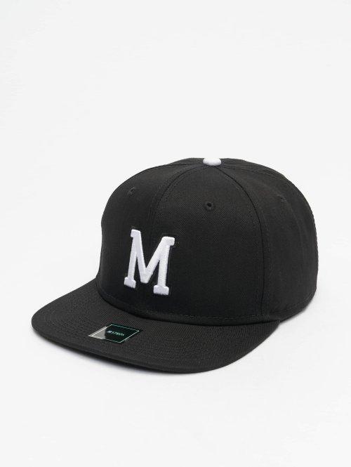 MSTRDS Snapback Caps M Letter musta