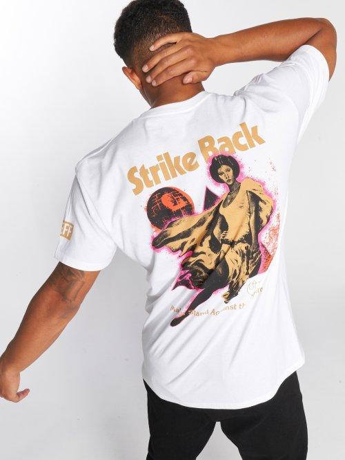 NEFF Tričká Strike Back biela