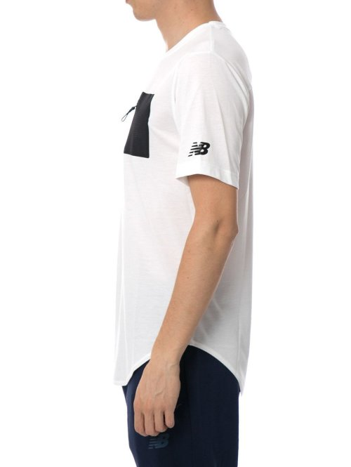 New Balance T-Shirt Sport Pocket weiß