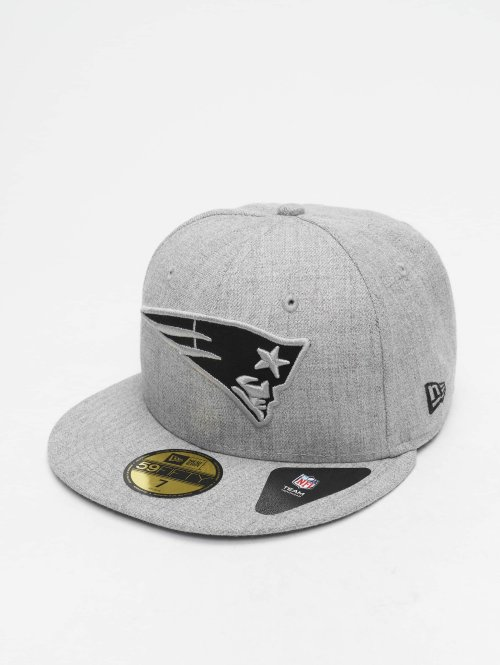 New Era Casquette Fitted NFL Heather New England Patriots 59 Fifty gris
