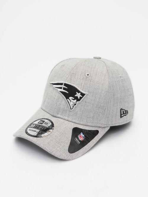 New Era Casquette Flex Fitted NFL Heather Essential New England Patriots 39 Thirty gris