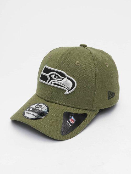 New Era Casquette Flex Fitted NFL Heather Essential Seattle Seahawks 39 Thirty vert