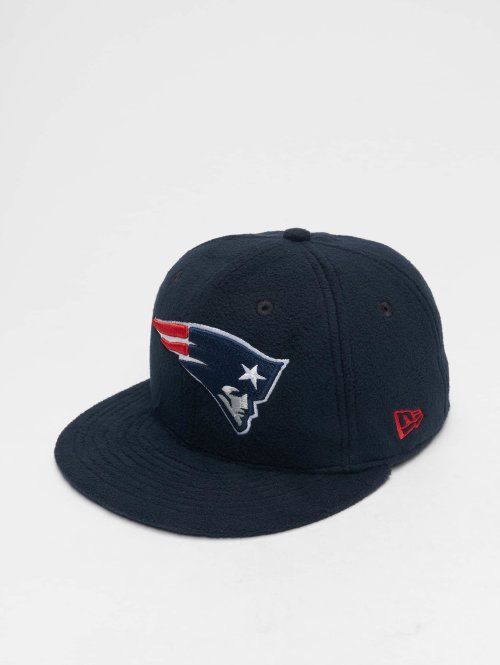 New Era Fitted Cap NFL Wintr Utlty Micro Fleece New England Patriots 59 Fifty blauw